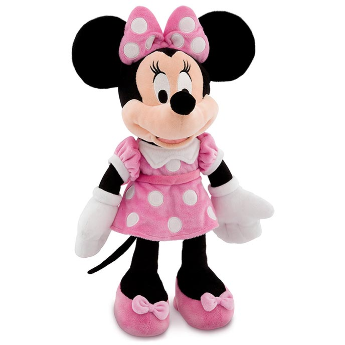 Disney Pink Minnie Mouse Plush Toy 18'' - Medium Minnie Stuffed Animal