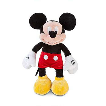 Disney Mickey Mouse Soft Plush Toy - Small Mickey Stuffed Animal