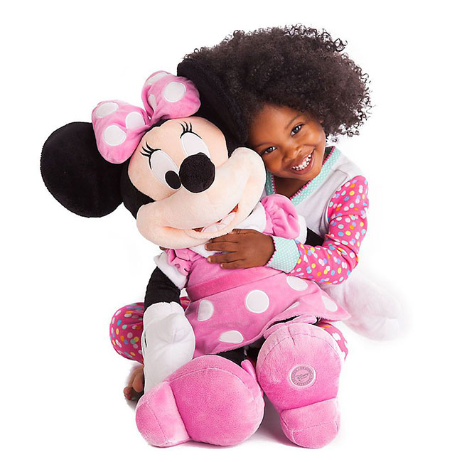 Disney Large Minnie Mouse Soft Plush Toy - Pink Minnie Mouse Stuffed Animal