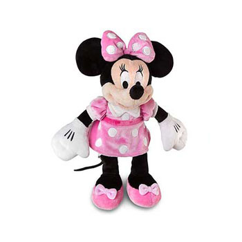 Disney Pink Minnie Mouse Plush Toy - Small Minnie Stuffed Animal