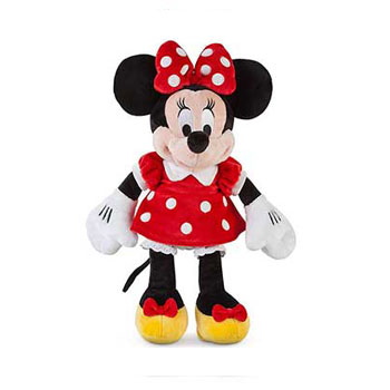 Disney Red Minnie Mouse Plush Toy - Small Minnie Stuffed Animal