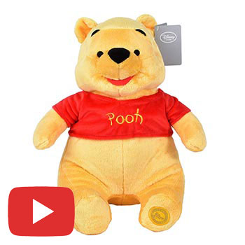 Disney Winnie the Pooh Soft Plush Toy - Pooh Bear Stuffed Animal